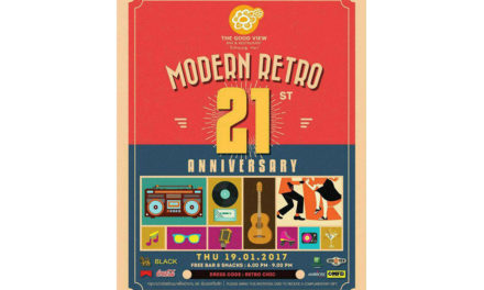 Modern Retro 21st Anniversary The Good View Bar & Restaurant