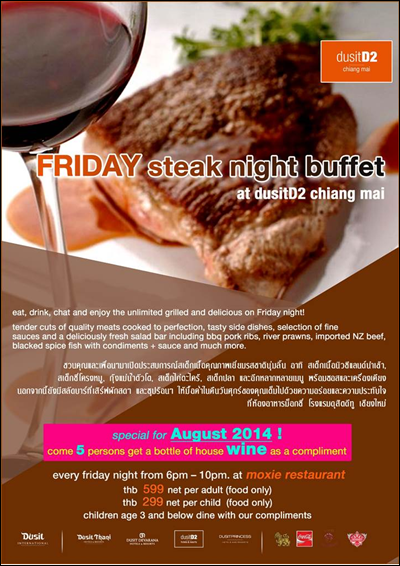 FRIDAY steak night buffet at dusitD2 chiang mai