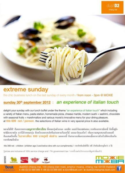 extreme sunday at dusitD2 chiang mai